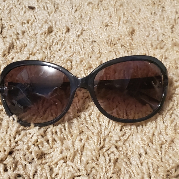Michael Kors MK Black 317713 Round Sunglasses